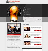 Popular music website template psd, htm