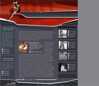 Female aerobics exchange Web site layout