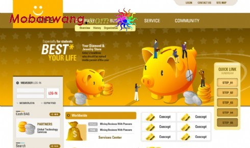 Monetary financial institution site templates
